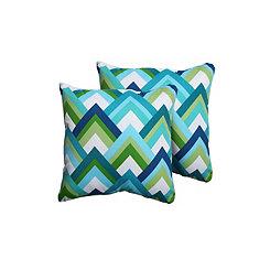 Resort Zig Zag Outdoor Pillows, Set of 2