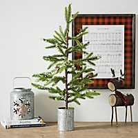 Mini Pine Tree in Galvanized Pot, 32 in.