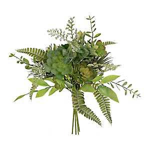 Green Succulent and Grass Mix Bouquet