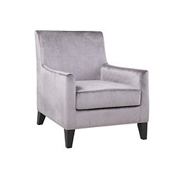 Embossed Gray Club Accent Chair