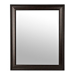 Bronze Rope Framed Wall Mirror, 27.5x33.5 in.
