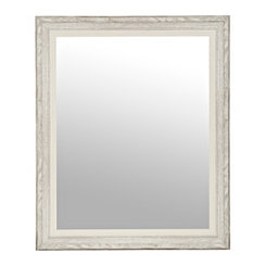 Gray White Woodgrain Wall Mirror, 27.5x33.5 in.