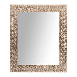 Silver Metallic Blocks Wall Mirror, 27.5x33.5 in.