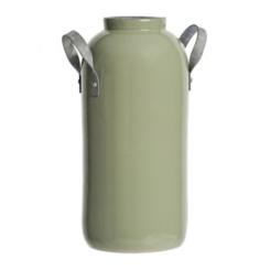 Sage Clay and Metal Vase
