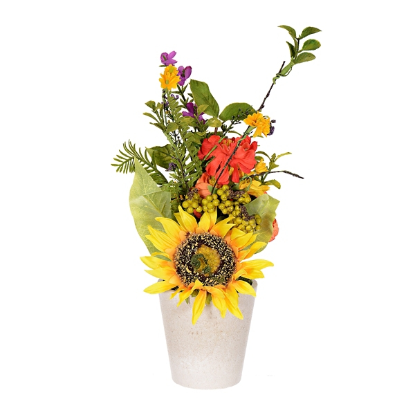 Exceptional Sunflower And Daisy Arrangement