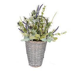 Herb and Thistle Wall Basket