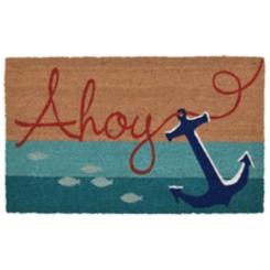 Ahoy Anchor Stripe Doormat