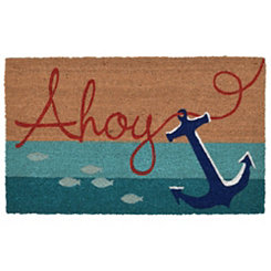 Ahoy Anchor Stripe Doormat