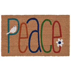 Colorful Peace Doormat