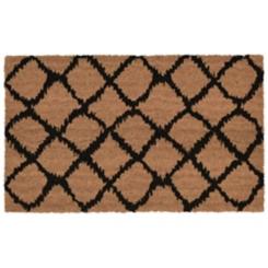 Black Lattice Doormat