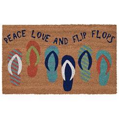 Love and Flip Flops Doormat