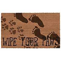 Brown Wipe Your Paws Doormat