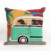 Beach Here We Come Outdoor Pillow