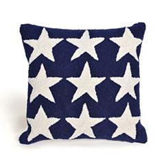 Blue Stars Outdoor Pillow