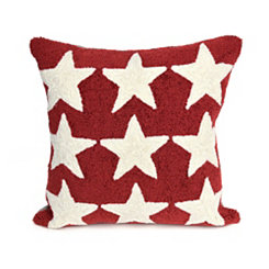 Red Stars Outdoor Pillow