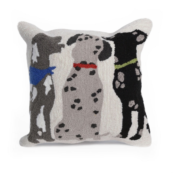 Trio Of Pups Outdoor Pillow