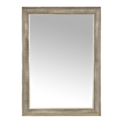 Silver Mesh Framed Wall Mirror, 33x42 in.