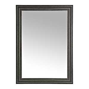 Black Graphite Framed Wall Mirror, 33x42 in.