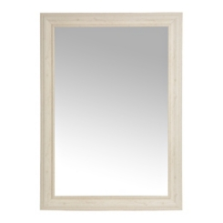 Weathered White Framed Wall Mirror, 33x42 in.