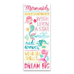 Mermaids Dream Big Canvas Art Print