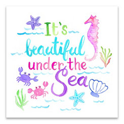 It's Beautiful Under the Sea Canvas Art Print