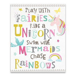 Play with Fairies Canvas Art Print