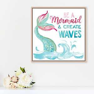 Be A Mermaid and Make Waves Framed Art Print