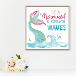Be A Mermaid and Make Waves Framed Art Print