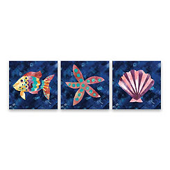 Boho Reef VI Canvas Art Prints, Set of 3