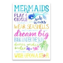 Mermaid Play and Giggle Canvas Art Print