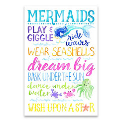 Mermaid Play and Giggle Canvas Art Print