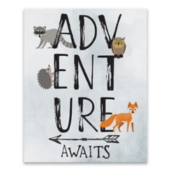 Adventure Awaits Critters Canvas Art Print