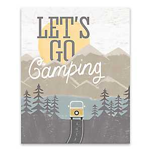 Let's Go Camping Canvas Art Print