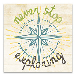 Never Stop Exploring Canvas Art Print
