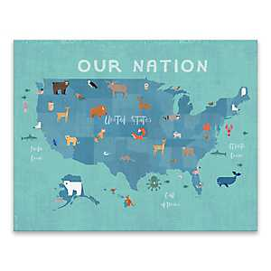 Our Nation of Animals Canvas Art Print