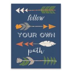 Follow Your Own Path Arrows Canvas Art Print