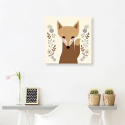 Sweet Fox Canvas Art Print