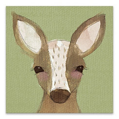 Watercolor Deer Canvas Art Print