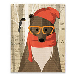 Mr. Bear Canvas Art Print