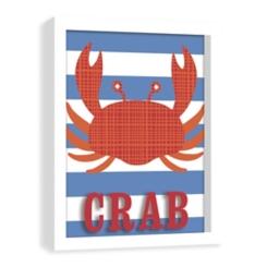 Crab Screenprinted Shadowbox