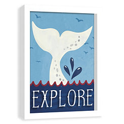 Whale Tale Screenprinted Shadowbox