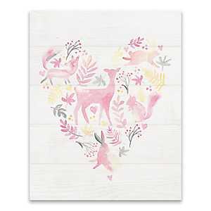 Woodland Heart Canvas Art Print