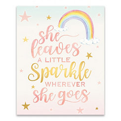 She Leaves A Little Sparkle Canvas Art Print