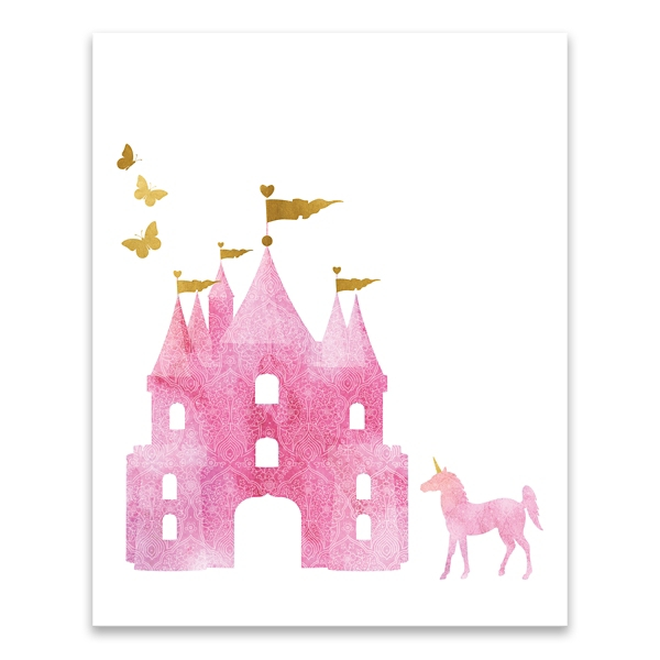 Dreamy Castle Canvas Art Print