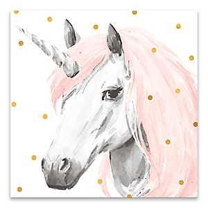 Pink Unicorn Canvas Art Print