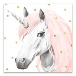 Pink Unicorn Canvas Art Print