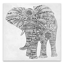 Elephant Walk Canvas Art Print