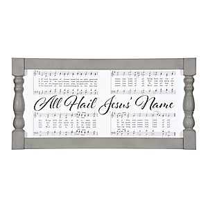 All Hail Jesus' Name Spindle Framed Art Print