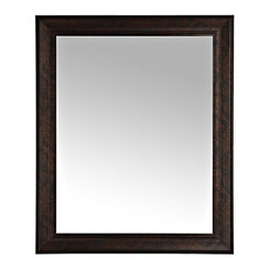 Bronze Beveled Framed Wall Mirror, 27x33 in.
