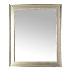 Silver Beveled Framed Wall Mirror, 27.3x33.3 in.